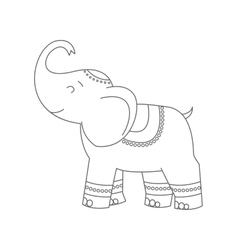 Elephant for coloring book vector