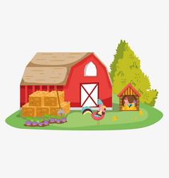Farm cute cartoons vector