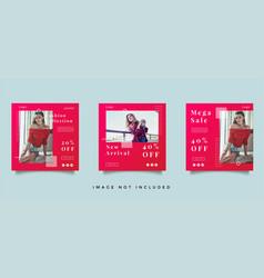 Fashion social media post promotion vector