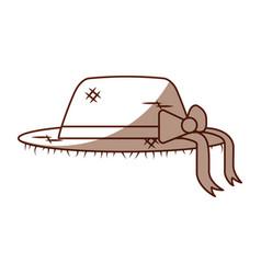 Female farmer hat icon vector