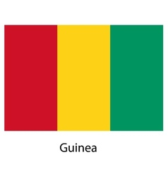Flag of the country guinea vector image