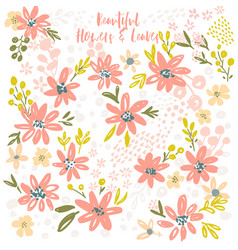 Flower petal and leaves collection vector
