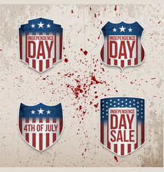 Fourth july patriotic banners set vector