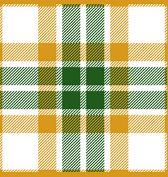 green and yellow tartan plaid seamless pattern vector image
