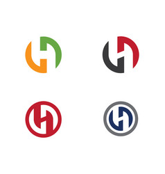 h letter logo template vector image