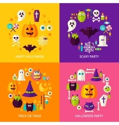 Halloween Holiday Concepts Set vector image