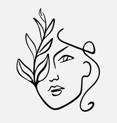 Hand drawn abstract face vector