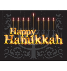 Happy Hanukkah jewish holiday vector