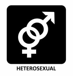 heterosexual symbol vector image