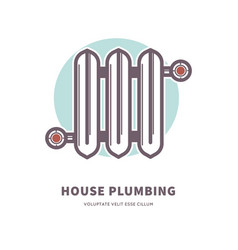 house plumbing heating battery radiator vector image