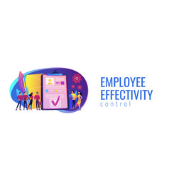 Hr software concept banner header vector