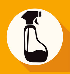 icon spray pistol cleaner plastic on white circle vector image