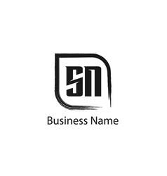 Initial letter sn logo template design vector