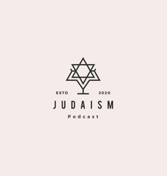 judaism podcast logo hipster retro vintage icon vector image