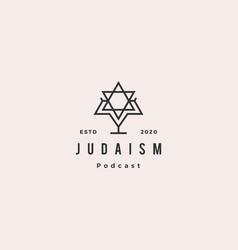 judaism podcast logo hipster retro vintage icon vector image