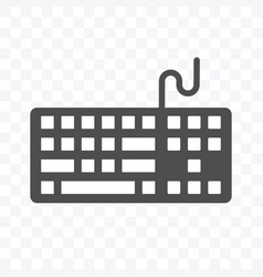 Keyboard icon isolated on transparent background vector