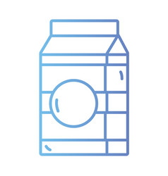 line milk box with natural nutrition vector image