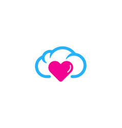 love weather and season logo icon design vector image