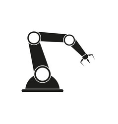 Manufactory industry and automation of icon pin vector