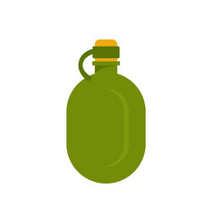 Metal water flask icon flat style vector