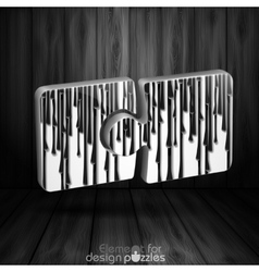 Modern Puzzle Template vector