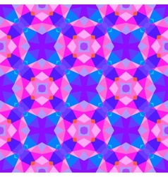 Multicolor geometric pattern in bright color vector