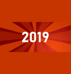 new year greetings for year 2019 with bright red vector image