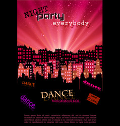 Night city background for your poster and flyer vector