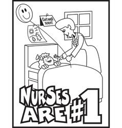 Nurses number one vector
