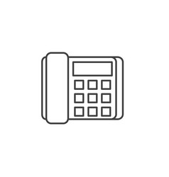 office phone related line icon vector image