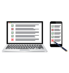 online survey or checklist concept vector image