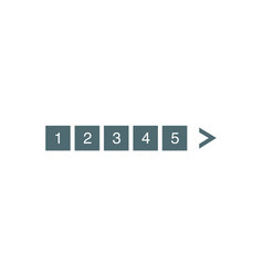 Pagination bar set electronic pages for web site vector