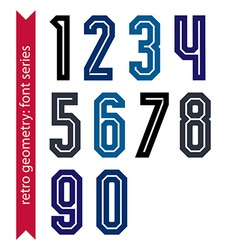 Poster classic style acute-angled numbers Ordinary vector