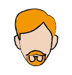 Profile man male person head avatar vector