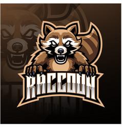 Raccoon sport mascot logo design vector