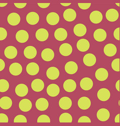 random scattered polka dots lime pink seamless vector image
