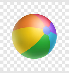 realistic bright inflatable ball object vector image