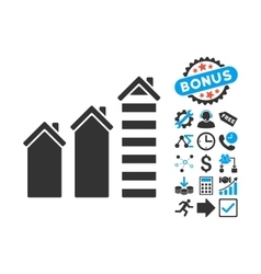 Realty Trend Flat Icon with Bonus vector image