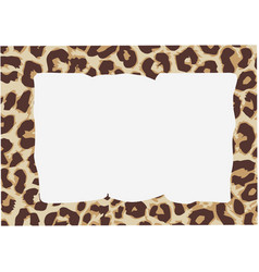 Rectangular frame paintings with animal skin vector