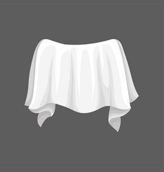Satin fabric with wavy folds white silk cloth vector