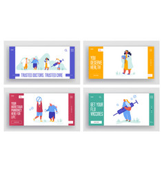 set medicine banners pharmacy web site concept vector image