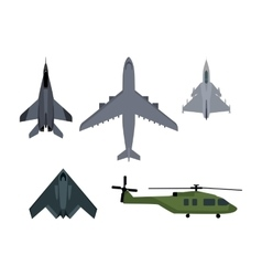 set military aircraft vector image