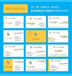 set of 12 car garage creative busienss card vector image