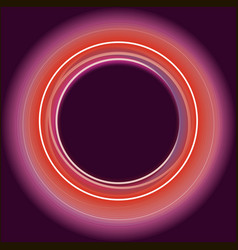 Shiny neon burgudy circles background vector