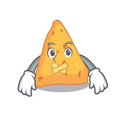 Silent nachos mascot cartoon style vector