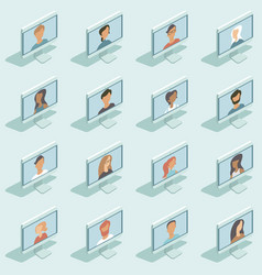 Social network concept online connection vector