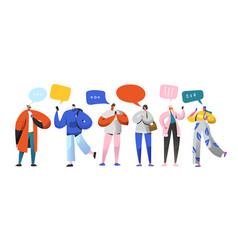 Social networking virtual relationships characters vector