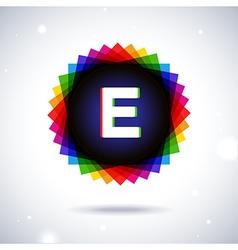 Spectrum logo icon letter e vector