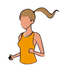 sport woman female athletic figure portrait vector image