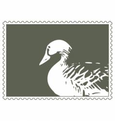 Stamp with goose vector